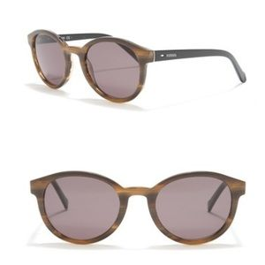 Fossil 51mm Round Sunglasses